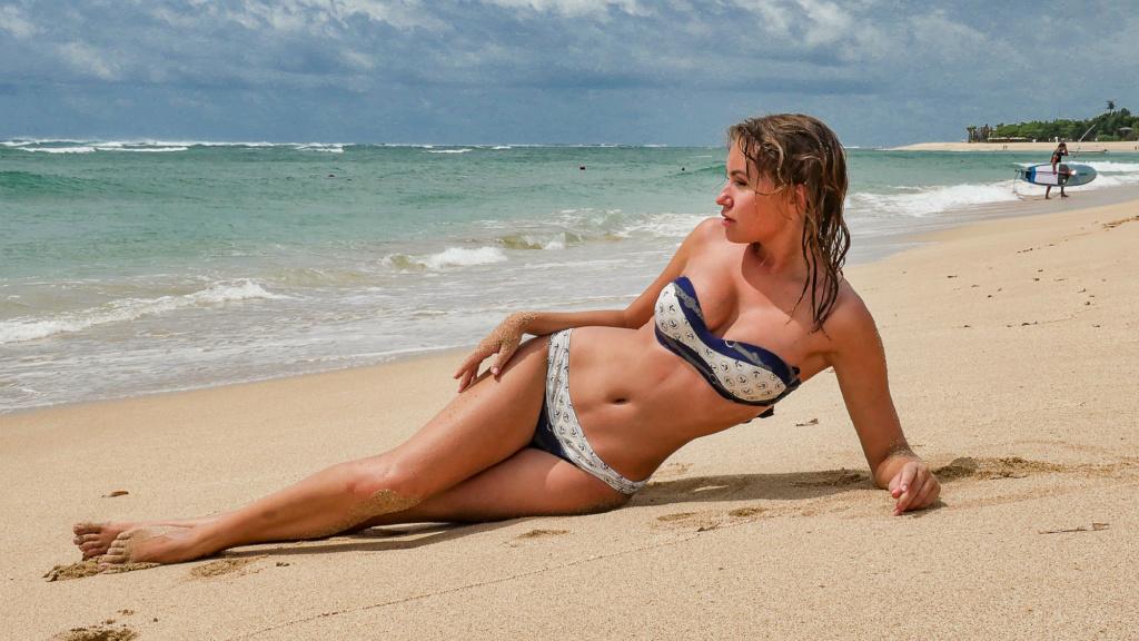 Nicole Ross On The Nusa Dua Beach, Bali