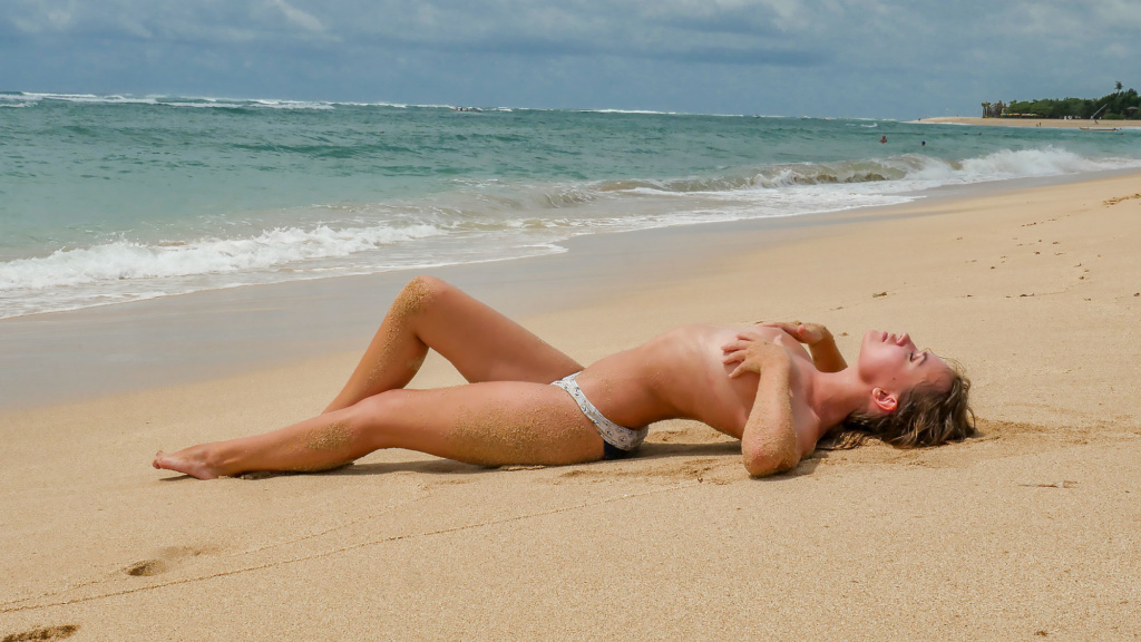 Nicole Ross On The Nusa Dua Beach, Bali
