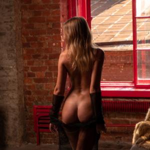 Beautiful nude playboy model playmate backstge