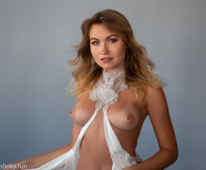 Stock Foto Beautiful nude model Nicole Ross with big tits
