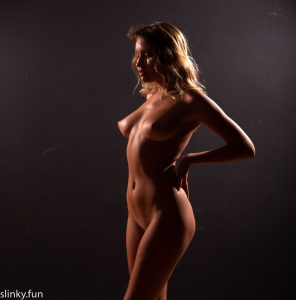 Nude young girl with big boobs.