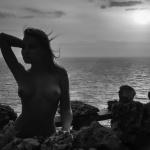 Naked model Nicole Ross in Bali