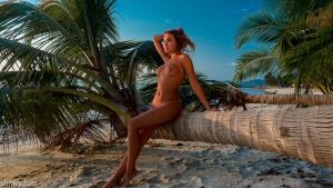 Naked Nicole Ross on Coconut Beach