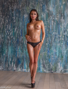 Playboy nude model with fantastic legs